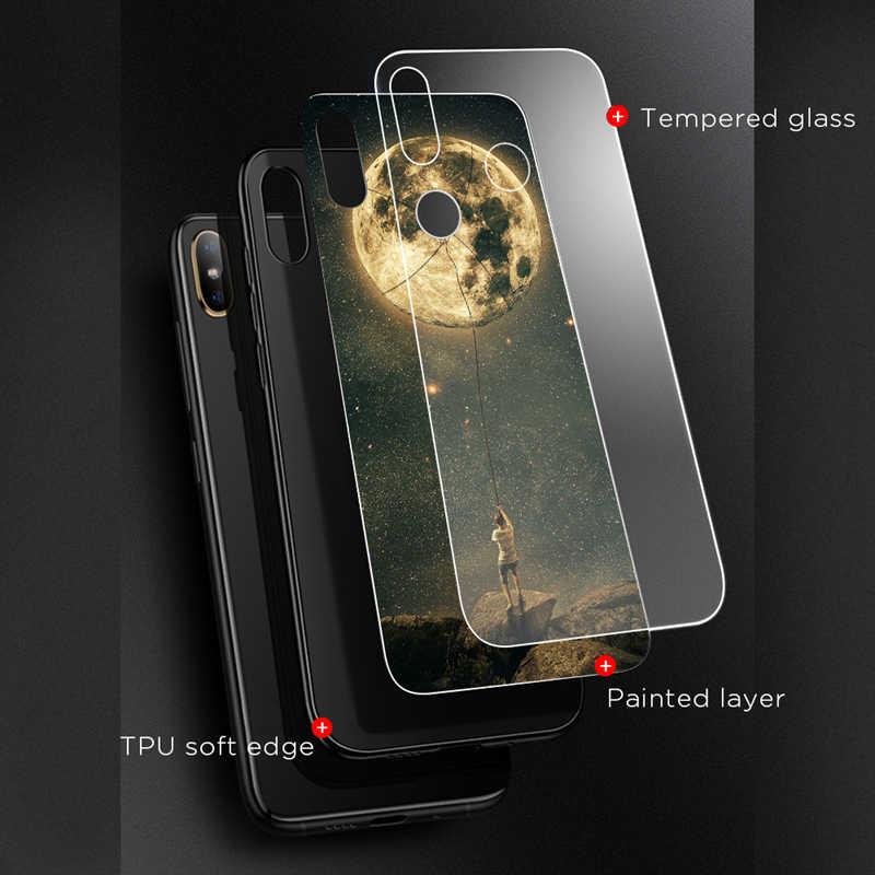 Закаленное Стекло чехол для телефона для Xiaomi 5x A1 6X A2 Lite 8 Redmi 6 Pro Чехол защитный чехол-накладка на заднюю панель для Note 6 Pro Pocophone F1