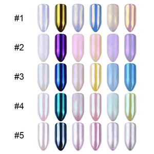 Image 5 - 1box 1g Borsette Perla Glitter Per Unghie Lucido A Specchio Matte Shimmer PIGMENTO Fai Da Te Della Polvere Della Polvere 3D Unghie Artistiche Decorazione