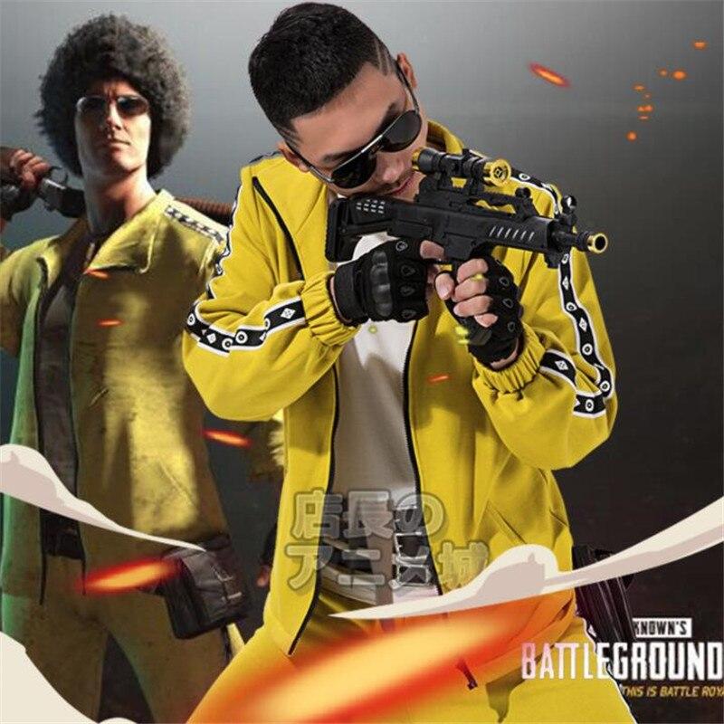 Jeu PUBG playerinconnu champs de bataille Cosplay Costumes jaune Sport ensembles homme femme vêtements haute qualité poulet dîner