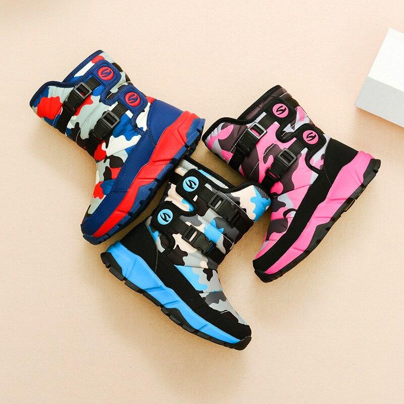 Botas cómodas para niños de media pantorrilla de felpa de fondo suave botas para niñas de algodón AA51121 - 4