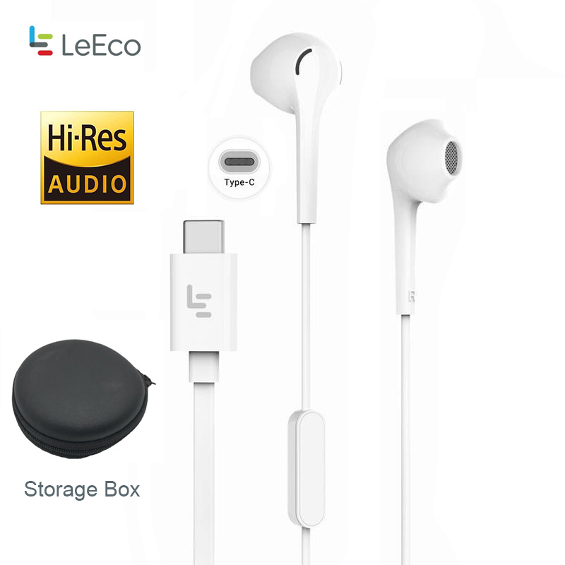 Letv Leeco Cdla Type-c Earphone Add Touch U Holder Black Storege Box Keeper Hi-res 96k/24bit Output In-ear Headset Lepdh401ch A Great Variety Of Models