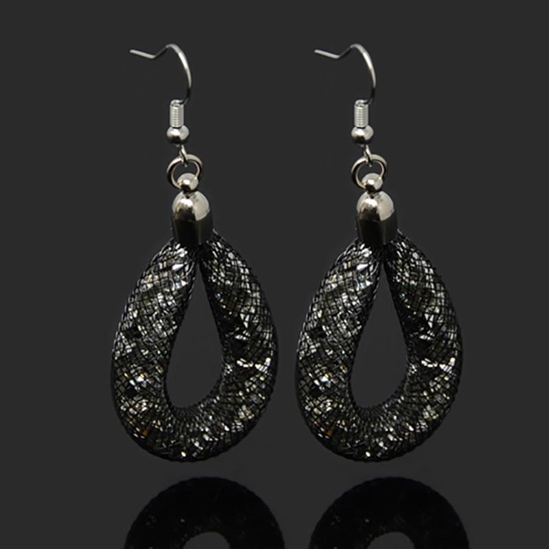 11 Farben Glänzende Kristall Ohrringe Wasser Baumeln Ohrringe Mit Winzigen Harz Kristall Gefüllt Für Frauen Party