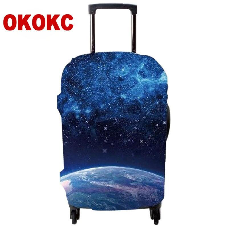 OKOKC Moon упругой толще Чемодан Защитная крышка для 18-32 дюймов тележка чемодан защиты дело пыль, дорожные аксессуары