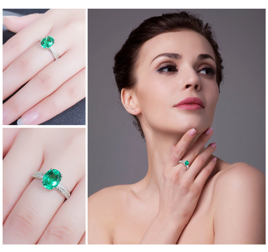 JewelryPalace Solid 925 Sterling Silver 2ct Created Emerald ...