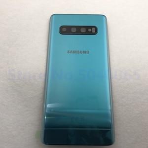 Image 2 - 100% oryginalny Samsung Galaxy S10 tylna pokrywa baterii 3D obudowa szklana pokrywa tylna sprawa S10 G973 S10 + drzwi tylna obudowa obiektyw aparatu