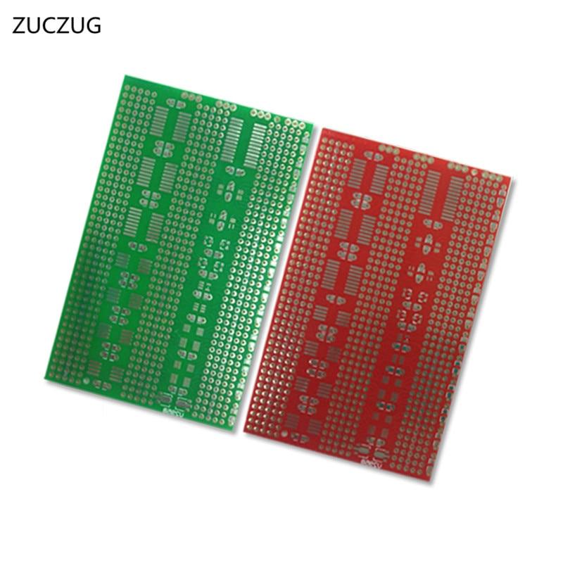 ZUCZUG 2pcs/lot 7x11cm Prototype Universal SMD DIP SOT Circuit Board pcb platine Game accessories