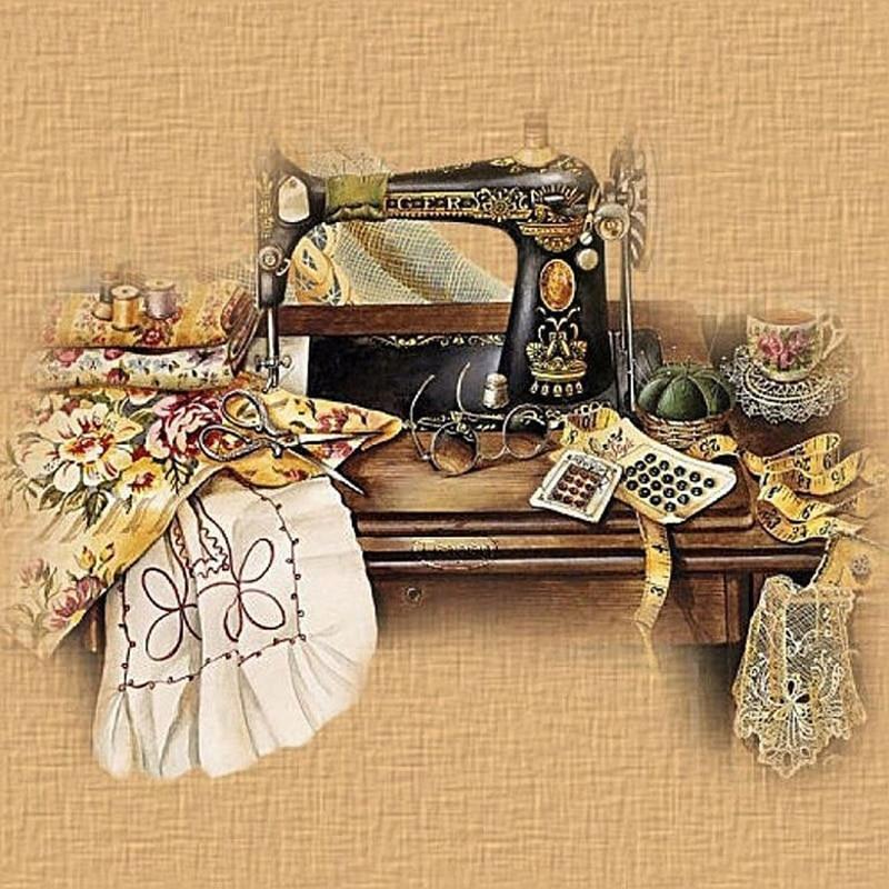 картинки швейной машинки для декупажа числе