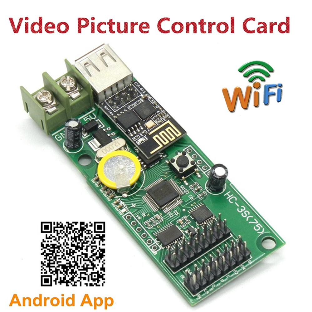 HC-3SW RGB Text Picture Video LED Control Card HC-3W Support P3 P4 P5mm P6 P7.62 P8 P10mm LED Module