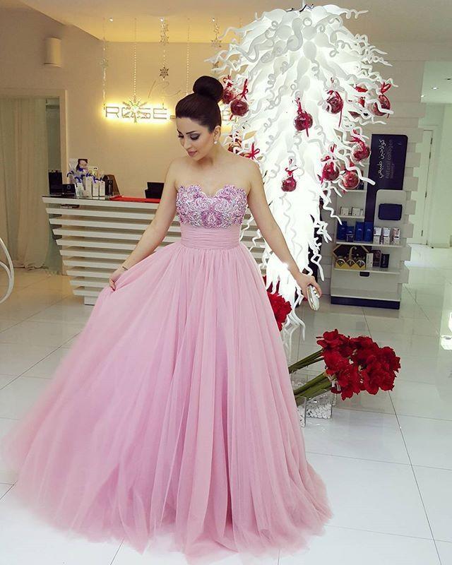 Rose Robes De Celebrites 2016 Nancy Ajram Princesse Une