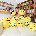 12 Estilos Soft Emoji Smiley Emoticon Amarillo Ronda Cojín Almohada de Peluche de Juguete de Felpa Muñeca Regalo de Navidad Envío Gratis