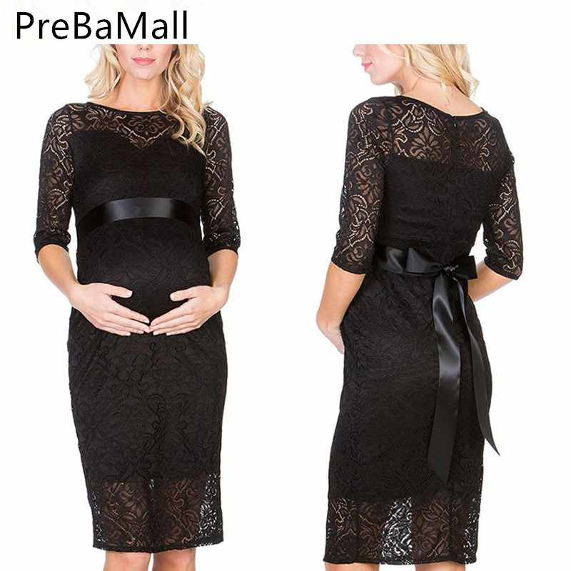 050de09ef3cbc Sexy Maternity Dresses Photography Wedding Evening Party Dress For Pregnant  Women Fashion Lace Pregnancy Dress Clothing