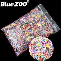 10000pcs Pack 5mm 3D Nail Art Decorations Cute Flowers Fimo Slices Polymer Clay DIY Tips Decoration