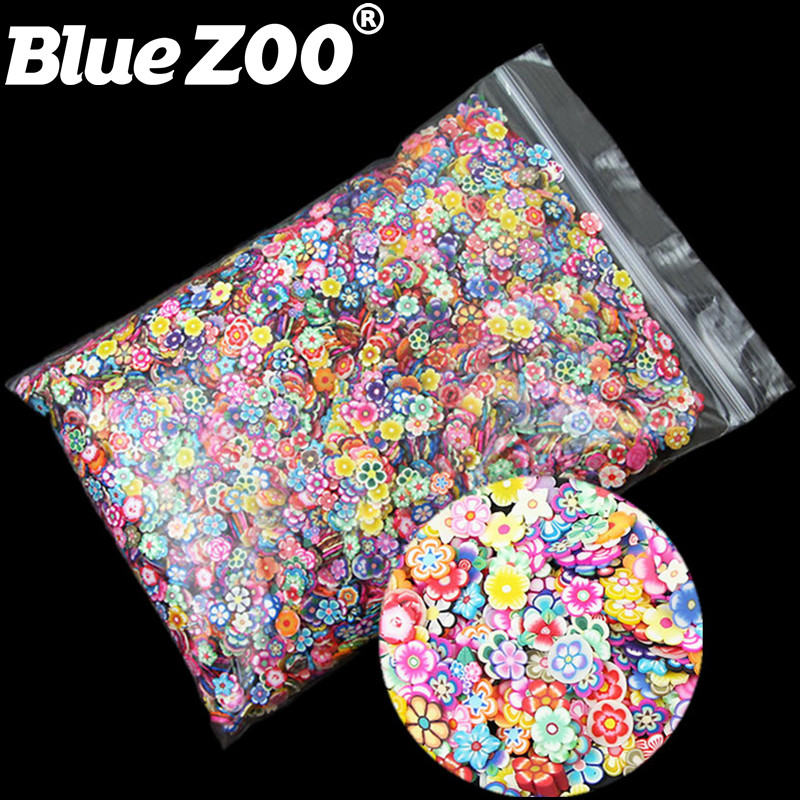 10000pcs/pack 5mm 3D Nail Art Decorations Cute Flowers Fimo Slices Polymer Clay DIY Tips Decoration Sticker Nail Supplies 1000pcs pack 3d fimo nail art decorations fimo canes polymer clay canes nail stickers diy 3mm fruit feather slices design zj1202