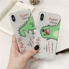 Dinosaurio de dibujos animados funda para Samsung Galaxy S9 S8 más S7 borde suave funda de teléfono para A5 A3 A7 2017 a50 30 S10 9 cubrir lindo Capa