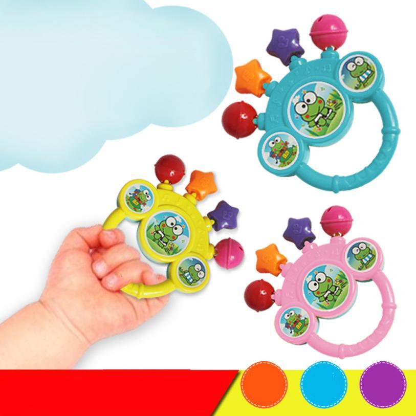 Más barato baby bell toys toys regalo de cumpleaños del bebé mano sonajeros y mó