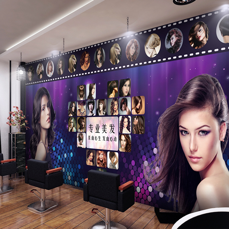 Free Shipping 3D Sexy fashion beauty KTV bar theme poster mural beauty salon clothing store background wallpaper mural