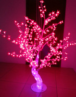 Outdoor Waterproof Artificial 1.2M 4FT Led Cherry Blossom Tree 384 LEDs Red Christmas Tree Light for Home Festival Decoration