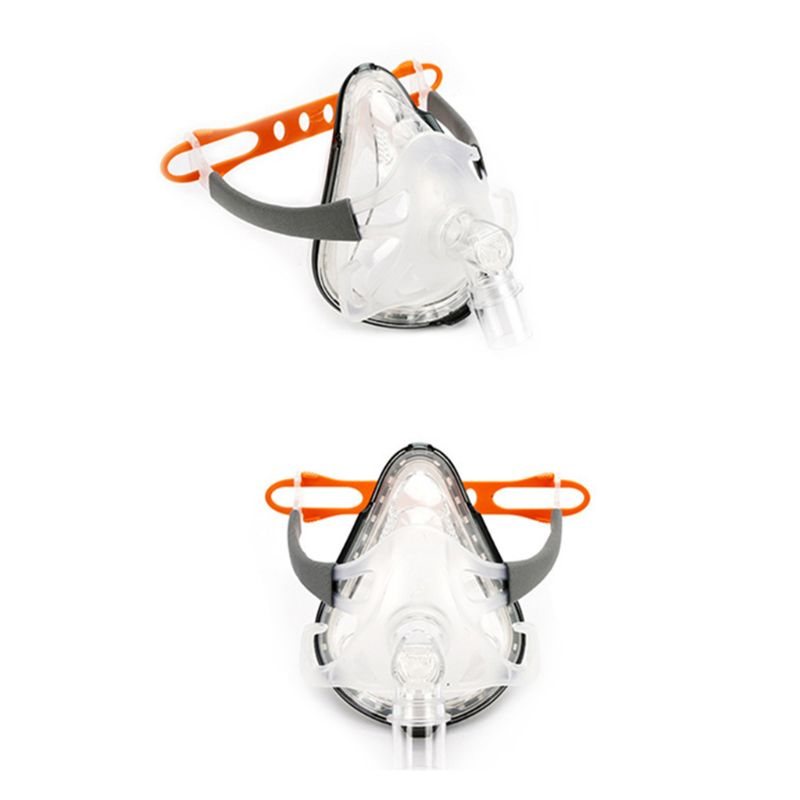 S/M/L Full Face Mask Silica Nasal Mask W/Headgear For CPAP BiPAP Sleep&Snore Respirator  for all kinds of respirator CPAP|Chemical Respirators| |  - title=