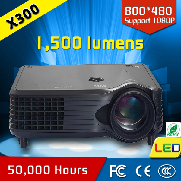 hot sale portable 50 000 hours lamp life hd mini projector CRE X300
