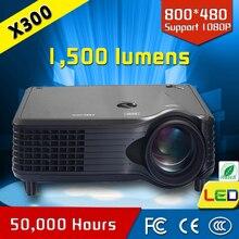Venta caliente portátil 50,000 horas vida de la lámpara hd mini proyector CRE X300