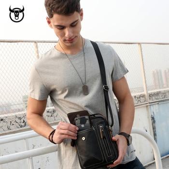 Genuine Vintage Leather Male Casual Handbag 10