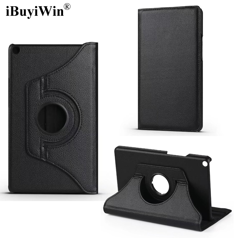 iBuyiWin 360 Rotating Case for Huawei MediaPad T3 8.0 KOB-L09 KOB-W09 Stand Cover PU Leather Case for Honor Play Pad 2 8.0+Film
