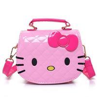 New Cute Mini Bag Children Hello Kitty Handbag For Women Cartoon Cat PU Waterproof Should Bag