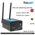 HD HDMI Streaming H.265 Encoder Dispositivos de Hardware para codificador de Vídeo en streaming a través de 4G cámara Digital montaje caliente del zapato foxwey