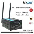 HD HDMI de Streaming Ao Vivo Dispositivos H.265 Encoder codificador de Hardware para streaming De Vídeo mais de 4G câmera Digital hot shoe mount foxwey