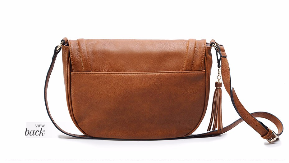 AMELIE GALANTI casual crossbody bag soft cover solid saddle fashion women messenger bags high quality shoulder bag for women   (12)