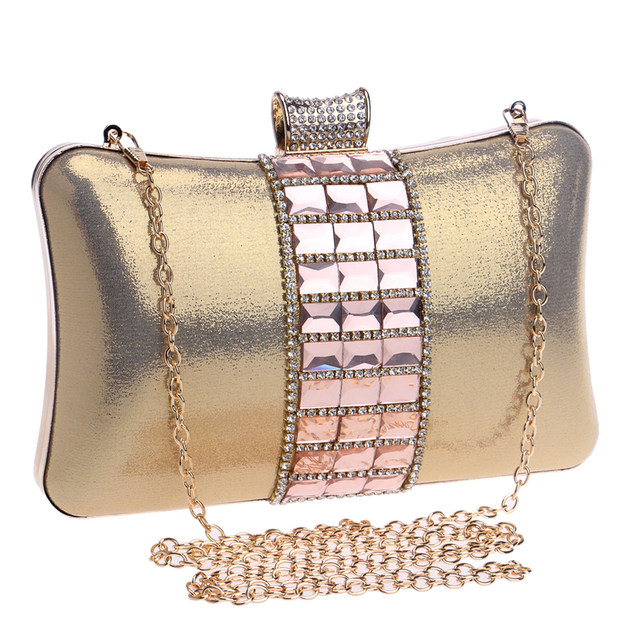 Women Rhinestones Clutch