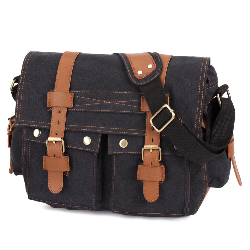15113bc79a Canvas Crossbody Bag Men Military Army Vintage Messenger Bags Casual ...