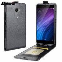 Cyboris For Xiaomi Hongmi 4 PU Leather Vertical Case For Xiaomi redmi 4  prime Wallet CASE Card Holder Up Down Phone Cover