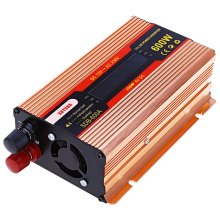 DC 12V Input 230V Output 50Hz Auto Adjust  Car Automotive Use DC to AC Pure Sine Wave Grid Tie Solar Power Inverter 600W