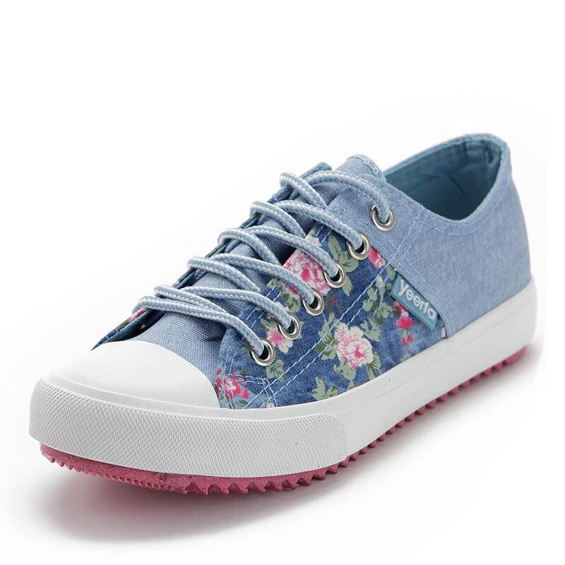 2014 yeni stil kanvas ayakkabılar kadın rahat ayakkabılar kadın düşük düz pamuk yapımı tembel ayakkabı çiçek baskılı tek platformu 280