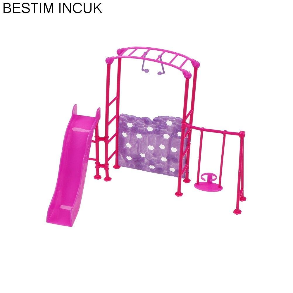 vente à bas prix nouveau style de 2019 beau US $3.2 17% di SCONTO|1 Set Accessori della Bambola Parco altalena Scivolo  di Divertimento Giocattoli Dispositivi Per Barbie 1/6 della Bambola di ...