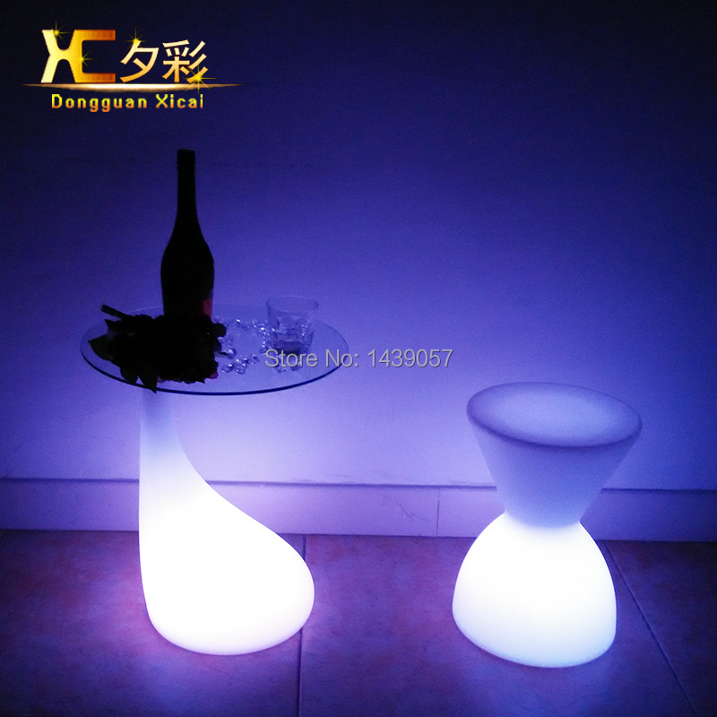 LED Bar Table Plastic Luminous Furniture Club Party Cylinder Drinking Table Color Changing Wine Pub Desk led luminous bar table plastic color changing coffee dining room garden drinking tables