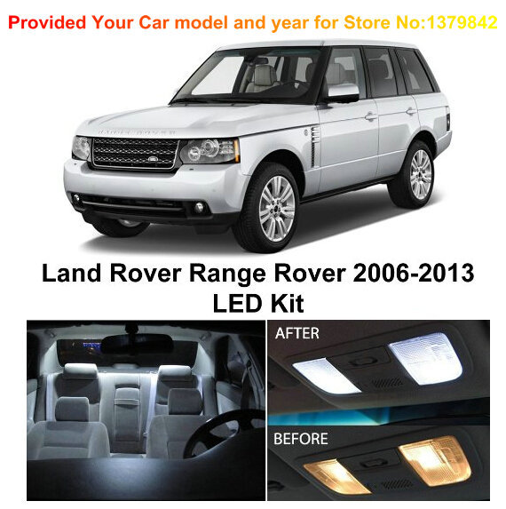 Free Shipping 21Pcs/Lot car-styling Xenon White Premium Package Kit LED Interior Lights For Land Rover Range Rover 2006-2013