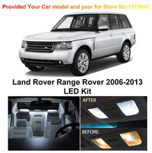 Free Shipping 21Pcs/Lot Xenon White Premium Package Kit LED Interior Lights For Land Rover Range 2006-2013