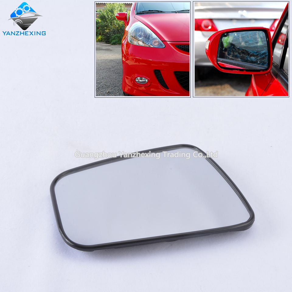 Outer rearview side mirror glass len for honda fit 2005 2006 2007 2008 without heated oem