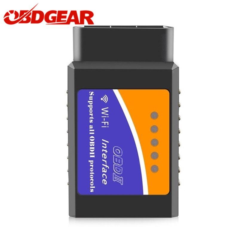 V1.5 Elm327 WIFI Adaptateur Avec PIC18F25k80 Obd2 Elm 327 v 1.5 Auto Diagnostic Scanner Pour Android IOS Windows Voiture De Diagnostic