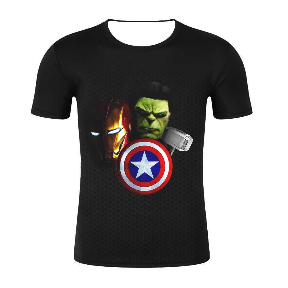2019 t חולצה גברים קומיקס נוקמי T חולצה גברים Superhero קפטן אמריקה איש עכביש איש ברזל חולצת טי קיץ חידוש חולצות טי