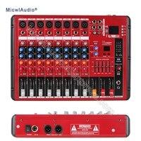 8 канальный звук консоли цифровой микшер для DJ Запись студии Stage Bluetooth микрофон смешивания с USB