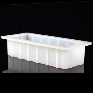 Image 5 - סיליקון סבון עובש מלבן 10Loaf עובש גמיש DIY סבון ביצוע ספקי
