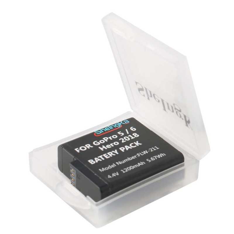 Pil saklama kutusu kutu GoPro Hero 5 için 6 Xiaomi Yi MiJia SJ4000 SJ5000 kamera