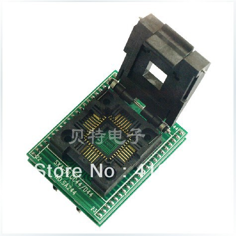 SA244 test socket adapter adapter convert PLCC44 to DIP44 Cap original plcc44 to dip40 block adapter block cnv plcc mpu51 test convert burn