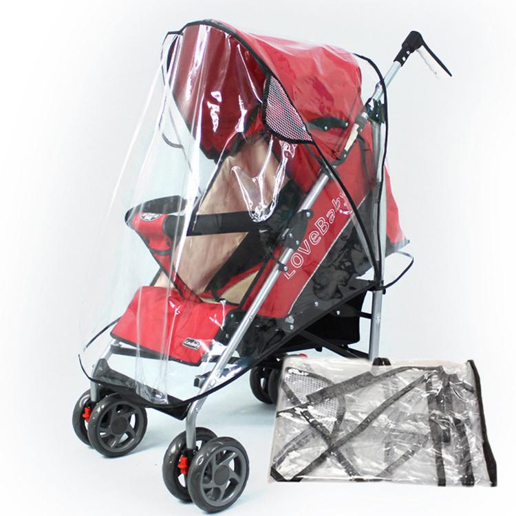 Drop Shipping Universal Baby Stroller Rain Cover Transparent Carriage Waterproof Cover BB-261