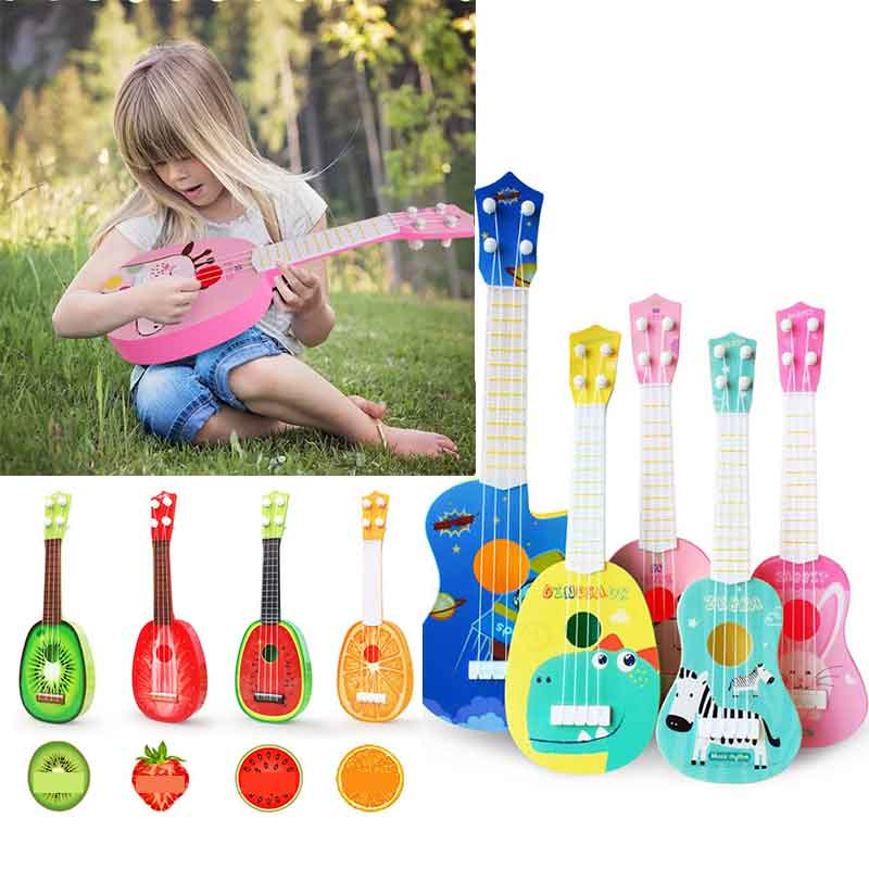 Baby Toys Beginner Classical Ukulele Guitar Educational Musical Instrument Toy For Kids Funny Toys For Girl Boy