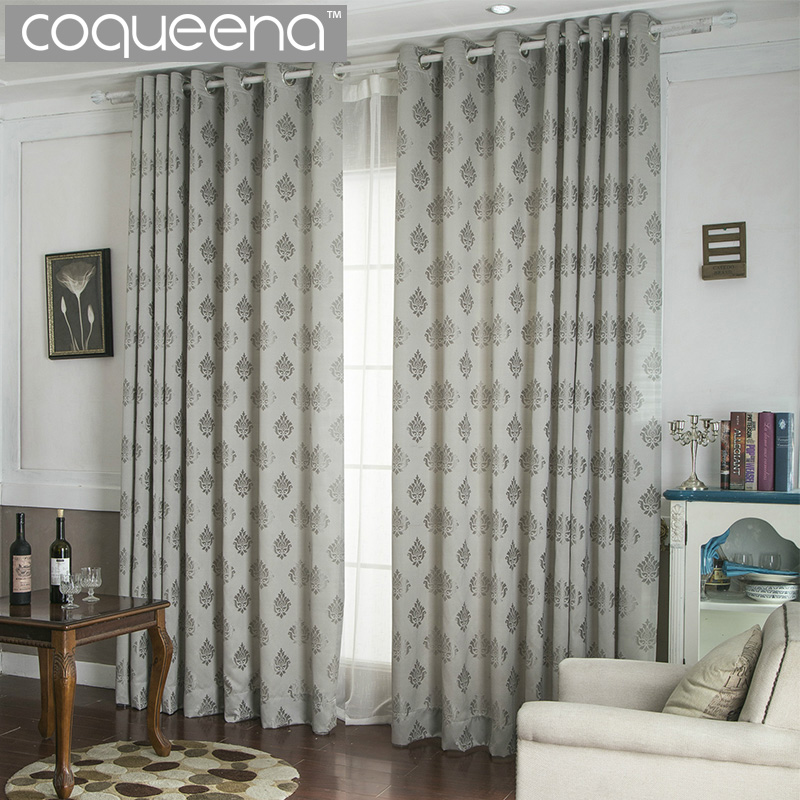classical jacquard luxury curtains for living room bedroom semi sun shade blackout curtain ready made door