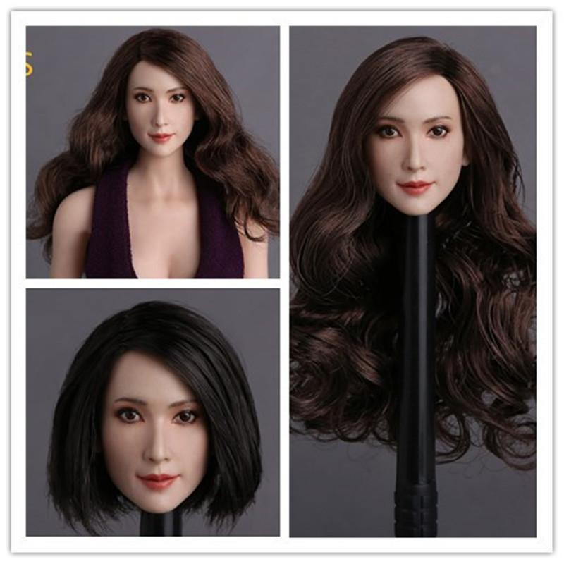 GC008 1 6 Asian Star Lin Chiling Head Sculpt for 12inch Action Figure DIY